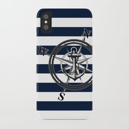 Navy Striped Nautica iPhone Case
