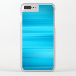 Blue Waves II Clear iPhone Case
