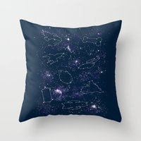 ships Throw Pillows featuring Star Ships by Mandrie