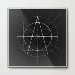 XXIst Century Anarchy Monochrome Metal Print
