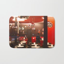 Red café PARIS Bath Mat
