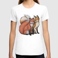 cuddle T-shirts featuring Fox Cuddle by Lyndsey Green Illustration