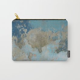 rough blue urban paint wall texture pattern Carry-All Pouch