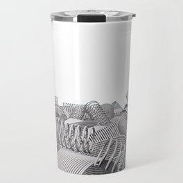 Pile of metal springs and coils Travel Mug