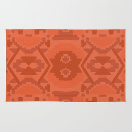 Geometric Aztec in Chile Red Rug
