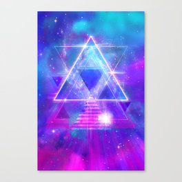 Space Vector 3 - Synth Galactic Vaporwave Canvas Print