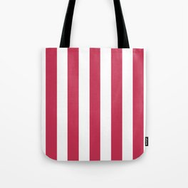 Dingy Dungeon fuchsia - solid color - white vertical lines pattern Tote Bag