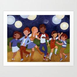 Dancing by Lantern Light Art Print