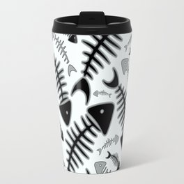Fish N' Bone Light Pattern Travel Mug
