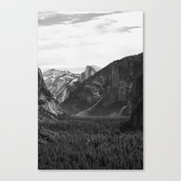 Yosemite Half Dome Veiw of Valley Canvas Print
