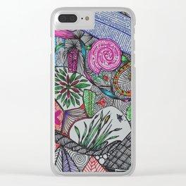 Color Doodles Clear iPhone Case