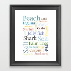 Beach Theme Framed Art Print