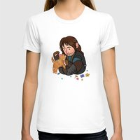kili T-shirts featuring Kili and Kitten by Hattie Hedgehog