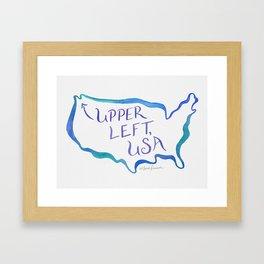 Upper Left, USA - Cool Hues Framed Art Print