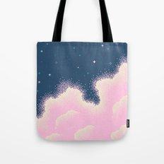 Pixel Cotton Candy Galaxy Tote Bag