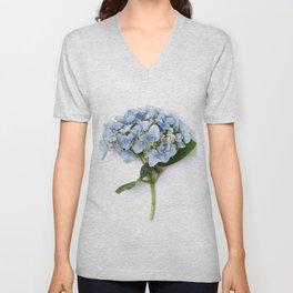 Blue hydrangea flowers Unisex V-Neck