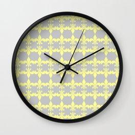 Multiple Fleur Yellow Wall Clock