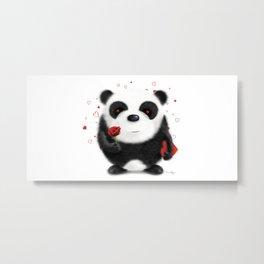 Valentine's Panda by dana alfonso Metal Print