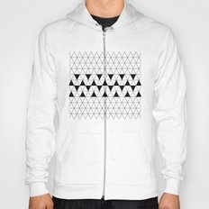 Black and white geometric design, triangle pattern. Home Decor. Worldwide Shipping Hoody