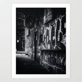 Manchester in Black and White Art Print
