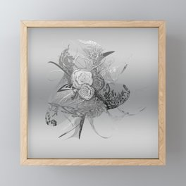 50 Shades of lace Silver Silver Framed Mini Art Print