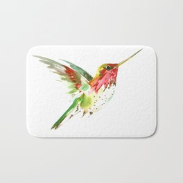 Hummingbird flying bird decor Bath Mat