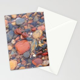Beach Stones Along Lake Superior Stationery Cards