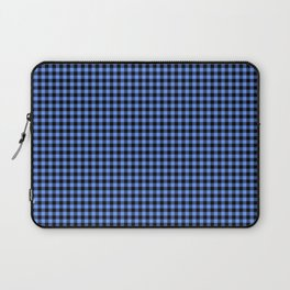 Mini Black and Sky Blue Cowboy Buffalo Check Laptop Sleeve