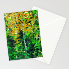 """Autumn Woodland"" Original Painting by Julia Barnickle Stationery Cards"