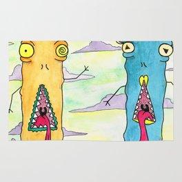 Alien Couple Rug