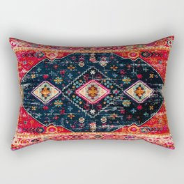 Heritage Oriental Berber Traditional Moroccan Style Blue & Red Design Rectangular Pillow