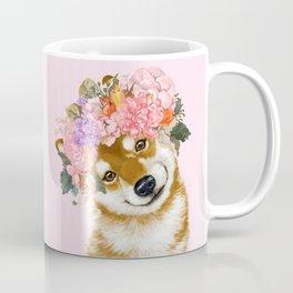 Shiba Inu with Flower Crown Coffee Mug