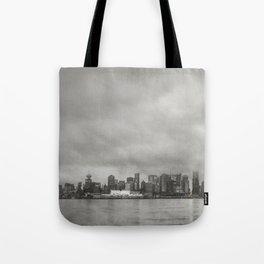 Vancouver Raincity Series - Raincity i - Moody Downtown Vancouver Cityscape Tote Bag