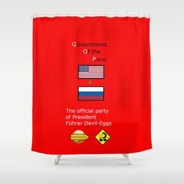G. O. P. with President Führer Devil-Eggs Shower Curtain