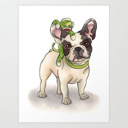Bubba & Monkey Art Print
