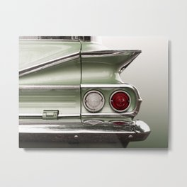 US American classic car 1960 Park Wood Metal Print