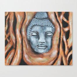 Buddha in the bodhi tree Canvas Print