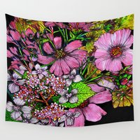 cosmos Wall Tapestries featuring Cosmos by marlene holdsworth