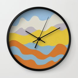 Over The Sunset Mountains Wall Clock