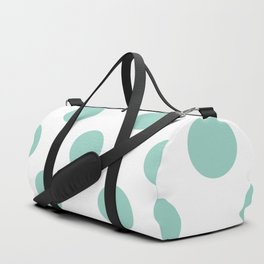 Gone Dotty Spotty - Geometric Orbital Circles In Pale Spring Fresh Green on White Duffle Bag