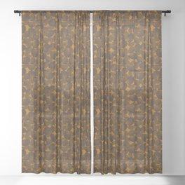 Lemon vOrange Sheer Curtain