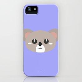 Cute friendly Koala head iPhone Case