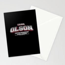 Team OLSON Family Surname Last Name Member Stationery Cards