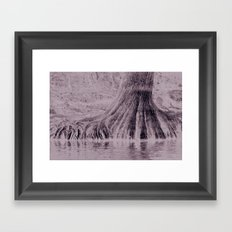 Roots in water Framed Art Print