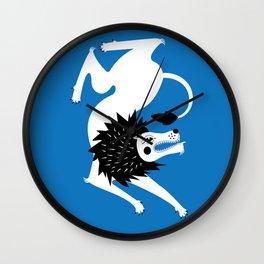 Dancing Beasts: Lion Wall Clock