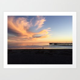 Waves in the Sky Art Print