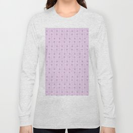 Blush purple abstract hand painted geometrical squares stripes Long Sleeve T-shirt