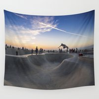 skateboard Wall Tapestries featuring Skateboard by SEMphotography