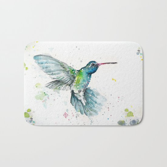 Hummingbird Flurry Bath Mat