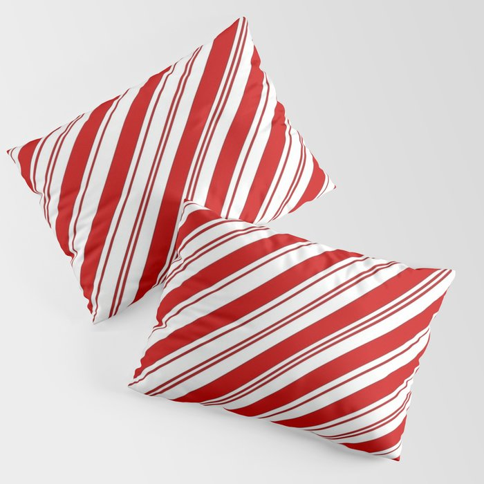 winter holiday xmas red white striped peppermint candy cane Kissenbezug